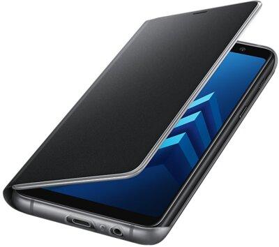 Чехол Samsung Neon Flip Cover Black для Galaxy А8+ (2018) A730 3