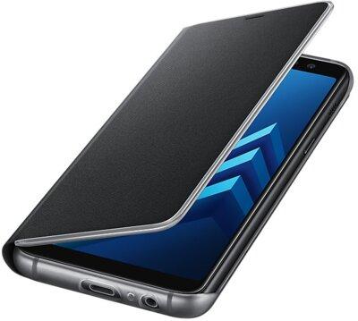 Чохол Samsung Neon Flip Cover Black для Galaxy А8 (2018) A530 4