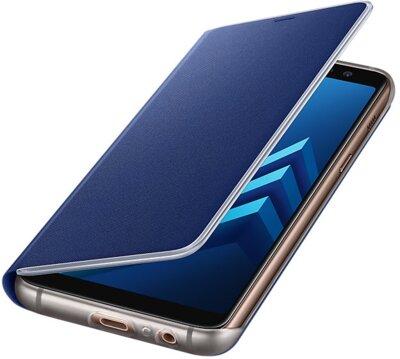 Чохол Samsung Neon Flip Cover Blue для Galaxy А8 (2018) A530 3