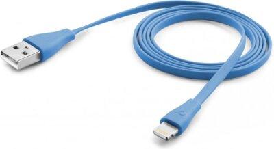Дата кабель Cellularline Lightning 1m blue (USBDATACFLMFIIPH5B) 1