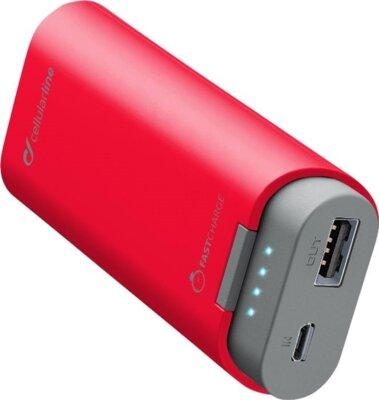 Мобильная батарея Cellular Line FreePower 5200 mAh Red 1