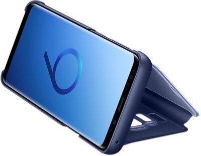 Чохол Samsung Clear View Standing Cover Blue для Galaxy S9 G960 5