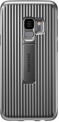 Чехол Samsung Protective Stadning Cover Silver для Galaxy S9 G960 1