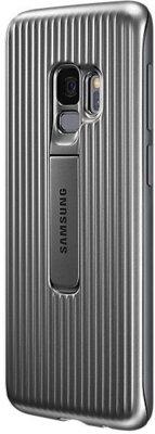 Чехол Samsung Protective Stadning Cover Silver для Galaxy S9 G960 2