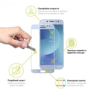 Захисне скло Global TG для Samsung J730 Blue 2