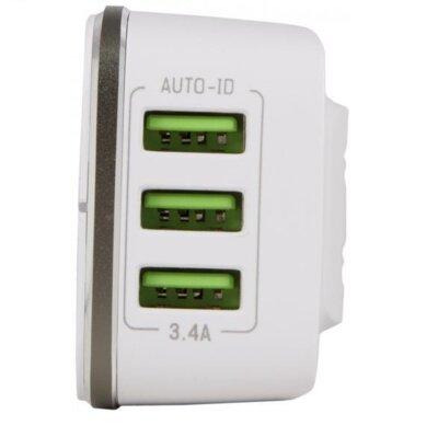Зарядний пристрій Intaleo TCG343 (3USB3,4A) White 3