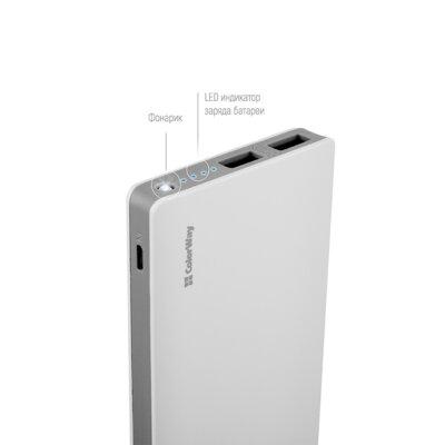 Мобильная батарея ColorWay 10 000 mAh White 2