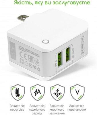 Зарядний пристрій Intaleo TCA242 (2USB2,4A) White 2