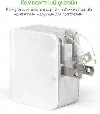 Зарядний пристрій Intaleo TCA242 (2USB2,4A) White 3