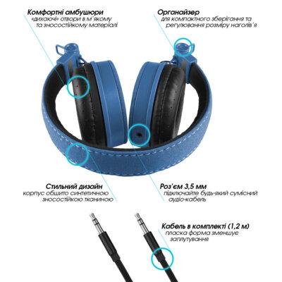 Навушники G.Sound D5079Bl Blue 2