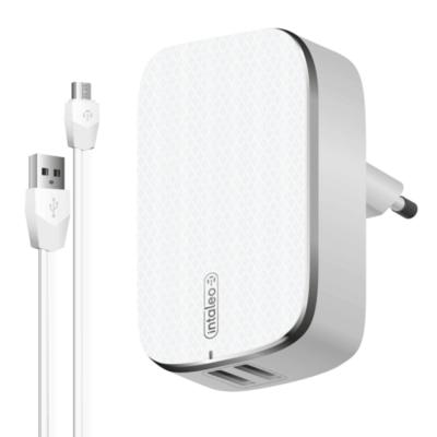 Зарядний пристрій Intaleo TCG242 (2USB2,4A) з кабелем Micro USB White 1
