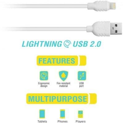 Кабель синхронизации Piko CB-UL11 lighting-USB 1m white 2