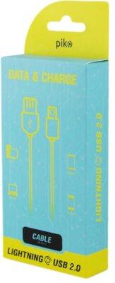 Кабель синхронизации Piko CB-UL11 lighting-USB 1m white 3