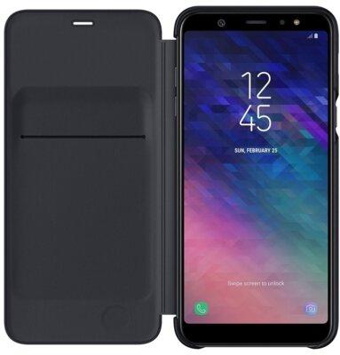 Чехол Samsung Wallet Cover для Galaxy A6+ A605 Black 2