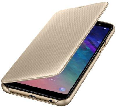 Чехол Samsung Wallet Cover для Galaxy A6+ A605 Gold 1