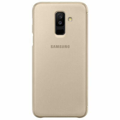 Чехол Samsung Wallet Cover для Galaxy A6+ A605 Gold 4