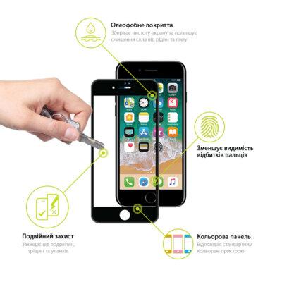 Защитное стекло Global TG Full Cover для Apple iPhone 7/8 black 3