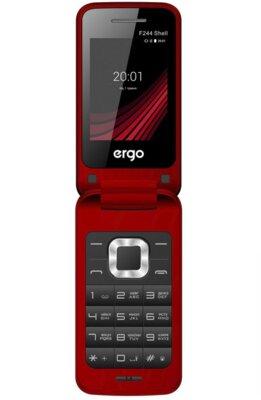Мобільний телефон ERGO F244 Shell Dual Sim Red 1