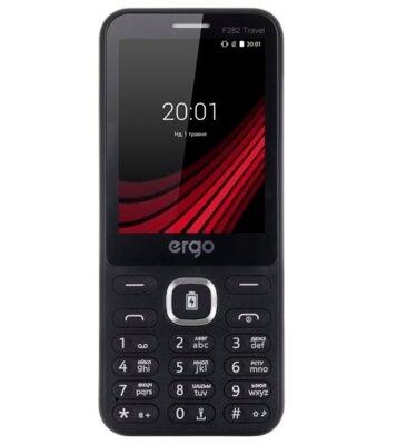 Мобильный телефон ERGO F282 Travel Dual Sim Black 1