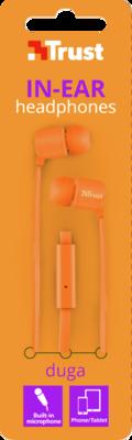 Навушники TRUST Duga Neon Orange 4