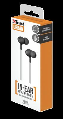 Навушники TRUST Urban Ziva In-ear Black 4