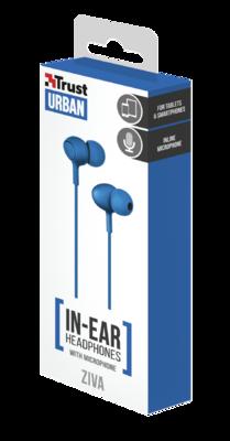 Навушники TRUST Urban Ziva In-ear Blue 4