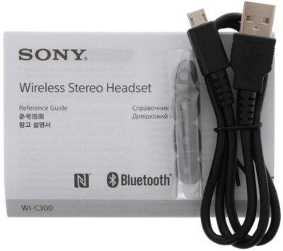 Навушники SONY WI-C300 Black 11