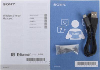 Наушники SONY WI-C400 Black 7