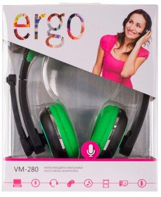 Наушники ERGO VM-280 Green 5