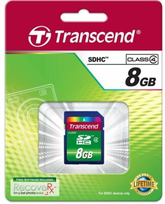 Карта пам'яті Transcend SDHC 8GB Class 4 2