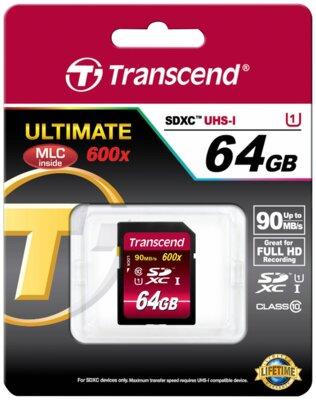 Карта пам'яті Transcend SDXC 64GB Class 10 UHS-I 600x Ultimate 2