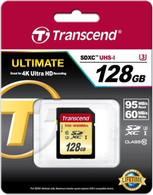 Карта пам'яті Transcend SDXC 128GB Class 10 UHS-I U3 Ultimate 2