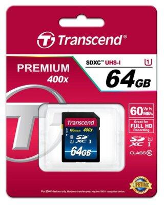 Карта пам'яті Transcend SDXC 64GB Class 10 UHS-I 400x Premium 2