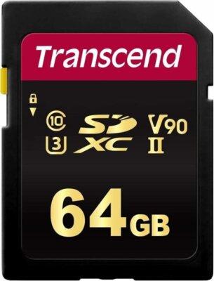 Карта пам'яті Transcend SDXC 64GB Class 10 UHS-II U3 V90 700S 1