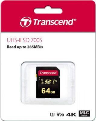 Карта пам'яті Transcend SDXC 64GB Class 10 UHS-II U3 V90 700S 2