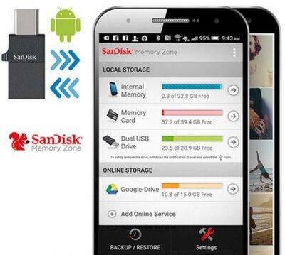 USB flash накопитель SanDisk Dual Type-C 16GB USB 2.0 6