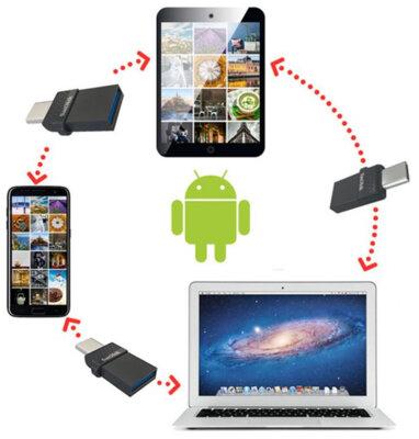 USB flash накопитель SanDisk Dual Type-C 64GB USB 3.0 6