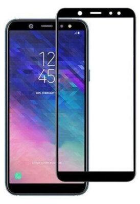 Захисне скло Global TG Full для Samsung Galaxy A6 A600 Black 1