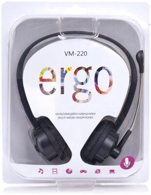 Наушники ERGO VM-220 Black 3