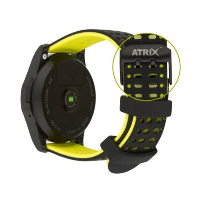 Умные часы ATRIX Smart watch X4 GPS PRO black-yellow 7