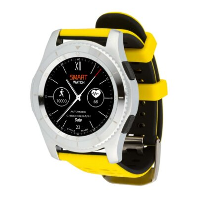 Умные часы ATRIX Smart watch X4 GPS PRO silver-yellow 4