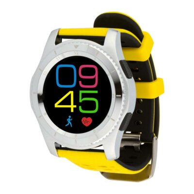 Умные часы ATRIX Smart watch X4 GPS PRO silver-yellow 6
