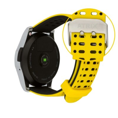 Умные часы ATRIX Smart watch X4 GPS PRO silver-yellow 7