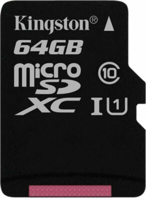 Карта пам'ятi KINGSTON microSDXC 64Gb Canvas Select U1 (R80/W10) no ad 1