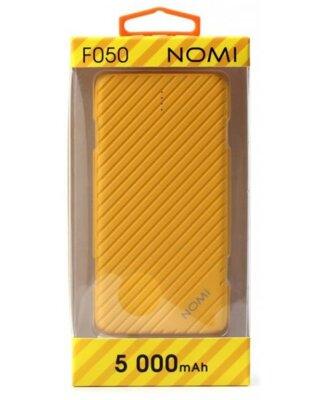 Мобильная батарея Nomi F050 5000 mAh Yellow 3