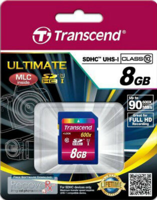 Карта пам'яті Transcend SDHC 8GB Class 10 UHS-I 600x Ultimate 2