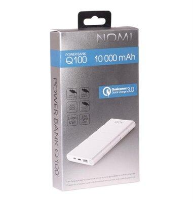 Мобильная батарея Nomi Q100 10000 mAh QC3.0 Silver 3