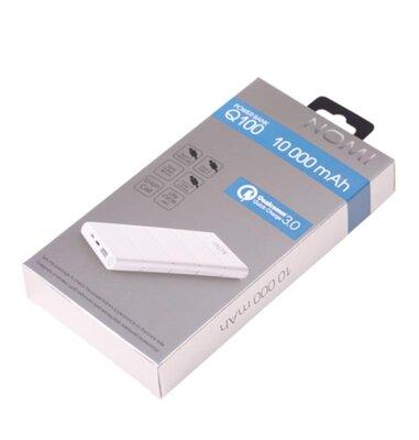 Мобильная батарея Nomi Q100 10000 mAh QC3.0 Silver 4