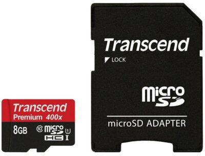 Карта пам'ятi TRANSCEND microSDHC 8GB Class 10 UHS-I Premium + ad 1