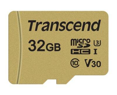Карта пам'ятi TRANSCEND microSDHC 500S 32GB UHS-I U3 + ad 2